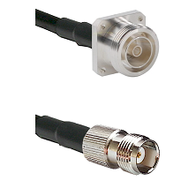 7/16 4 Hole Female Connector On LMR-240UF UltraFlex To TNC Female Connector Cable Assembly