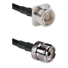 7/16 4 Hole Female Connector On LMR-240UF UltraFlex To UHF Female Connector Cable Assembly