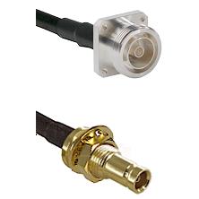 7/16 4 Hole Female on RG58C/U to 10/23 Female Bulkhead Cable Assembly