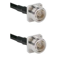 7/16 4 Hole Female on RG58C/U to 7/16 4 Hole Female Cable Assembly