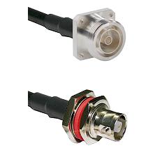 7/16 4 Hole Female on RG58C/U to C Female Bulkhead Cable Assembly