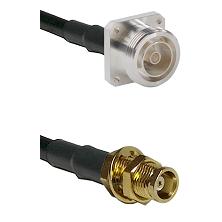 7/16 4 Hole Female on RG58C/U to MCX Female Bulkhead Cable Assembly