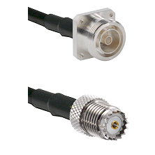 7/16 4 Hole Female on RG58 to Mini-UHF Female Cable Assembly