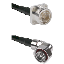 7/16 4 Hole Female on RG58C/U to 7/16 Din Right Angle Male Cable Assembly