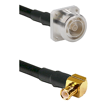 7/16 4 Hole Female on RG58C/U to MCX Right Angle Male Cable Assembly