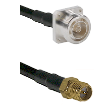 7/16 4 Hole Female on RG58C/U to SMA Reverse Polarity Female Cable Assembly