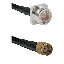 7/16 4 Hole Female on RG58C/U to SMA Reverse Polarity Male Cable Assembly
