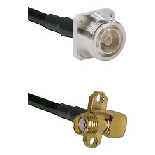 7/16 4 Hole Female on RG58C/U to SMA 2 Hole Right Angle Female Cable Assembly