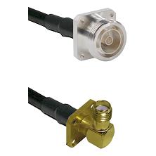 7/16 4 Hole Female on RG58C/U to SMA 4 Hole Right Angle Female Cable Assembly