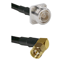 7/16 4 Hole Female on RG58C/U to SMA Right Angle Male Cable Assembly