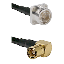 7/16 4 Hole Female on RG58C/U to SMB Right Angle Female Cable Assembly