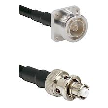 7/16 4 Hole Female on RG58C/U to SHV Plug Cable Assembly
