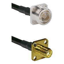 7/16 4 Hole Female on RG58 to SMA 4 Hole Female Cable Assembly