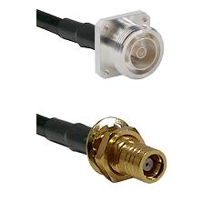 7/16 4 Hole Female on RG58C/U to SMB Female Bulkhead Cable Assembly