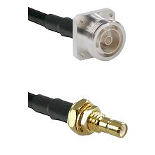 7/16 4 Hole Female on RG58C/U to SMB Male Bulkhead Cable Assembly