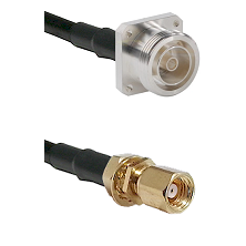 7/16 4 Hole Female on RG58C/U to SMC Female Bulkhead Cable Assembly