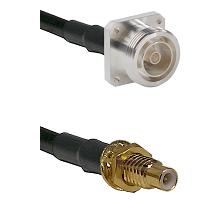 7/16 4 Hole Female on RG58C/U to SMC Male Bulkhead Cable Assembly