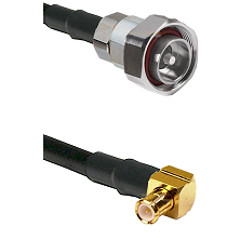 7/16 Din Male on LMR-195-UF UltraFlex to MCX Right Angle Male Cable Assembly