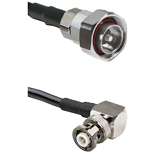 7/16 Din Male on LMR-195-UF UltraFlex to MHV Right Angle Male Cable Assembly