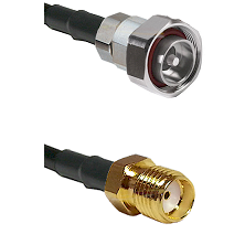 7/16 Din Male Connector On LMR-240UF UltraFlex To SMA Reverse Thread Female Connector Coaxial Cable