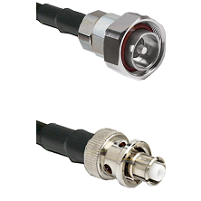 7/16 Din Male Connector On LMR-240UF UltraFlex To SHV Plug Connector Cable Assembly
