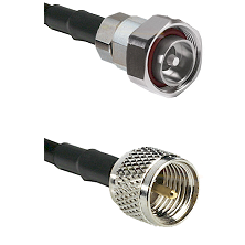 7/16 Din Male on RG142 to Mini-UHF Male Cable Assembly