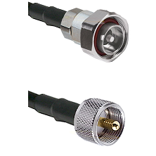 7/16 Din Male on RG400 to UHF Male Cable Assembly