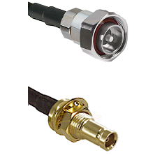 7/16 Din Male on RG58C/U to 10/23 Female Bulkhead Cable Assembly