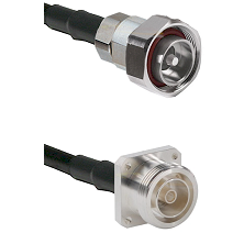 7/16 Din Male on RG58C/U to 7/16 4 Hole Female Cable Assembly
