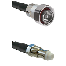7/16 Din Male on RG58C/U to FME Female Cable Assembly