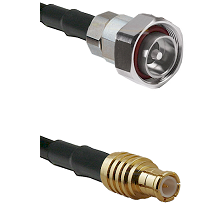 7/16 Din Male on RG58C/U to MCX Male Cable Assembly