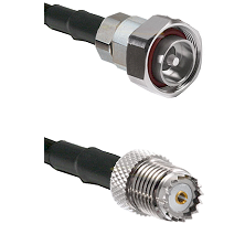 7/16 Din Male on RG58 to Mini-UHF Female Cable Assembly