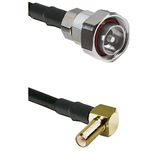7/16 Din Male on RG58C/U to SLB Right Angle Male Cable Assembly