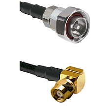 7/16 Din Male on RG58C/U to SMC Right Angle Female Cable Assembly