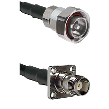 7/16 Din Male on RG58C/U to TNC 4 Hole Female Cable Assembly