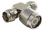 TNC Connectors T Adapter Female/Male/Female