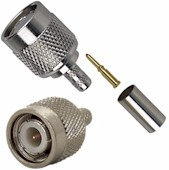 TNC Connectors Male 3 Piece Crimp Type for RG-58 Teflon