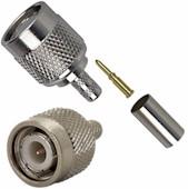 TNC Connectors Male 3 Piece Crimp Type for Micro 8/U (RG-8X)