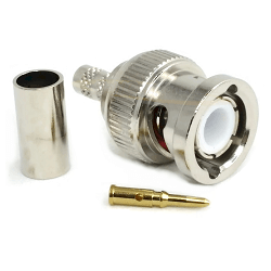 BNC Male for RG58, RG141 LMR195 Nickel Plated Connector 4GHz