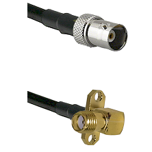 BNC Female on LMR100 to SMA 2 Hole Right Angle Female Cable Assembly