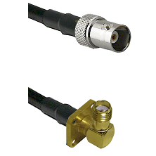 BNC Female on LMR100 to SMA 4 Hole Right Angle Female Cable Assembly