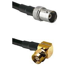 BNC Female on LMR100 to SMC Right Angle Female Cable Assembly