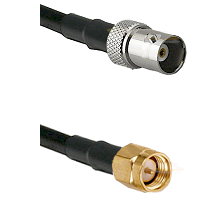 BNC Female on LMR100 to SMA Reverse Thread Male Cable Assembly