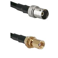 BNC Female on LMR100 to SSMC Female Bulkhead Cable Assembly