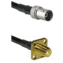 BNC Female on LMR240 Ultra Flex to SMA 4 Hole Female Cable Assembly