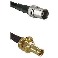 BNC Female on RG142 to 10/23 Female Bulkhead Cable Assembly