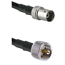 BNC Female To UHF Male Connectors RG178 Cable Assembly