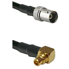 BNC Female on RG188 to MMCX Right Angle Male Cable Assembly