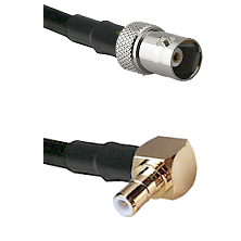 BNC Female To Right Angle SMB Female Connectors RG188 Cable Assembly