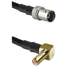 BNC Female on RG400 to SSMB Right Angle Male Cable Assembly